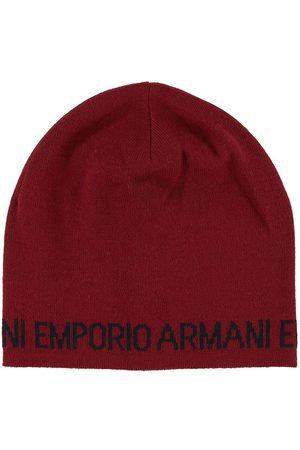 Emporio Armani Mössa - Stickad - Ull/Akryl - Mörk m. Text
