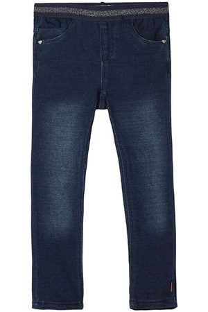 Name it Flicka Jeggings - Jeggings - Noos - NmfSalli - Mörkblå Denim m. Glimmer