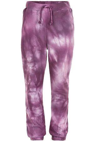 The New Flicka Joggingbyxor - Sweatpants - Rille Tie Dye - Potent Purple
