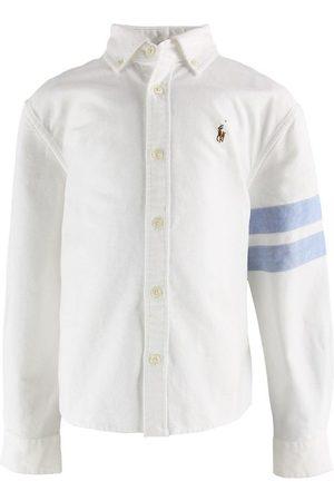 Ralph Lauren Polo Skjorta - Cropped - m. Ljusblå Ränder