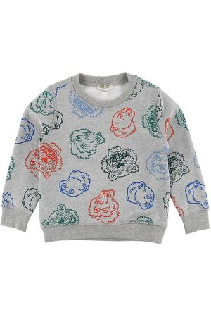 Kenzo Sweatshirt - Gråmelerad m. Tigrar