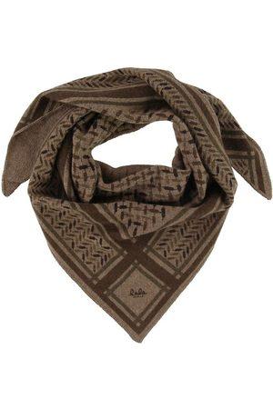 LALA BERLIN Halsduk - 95x45 - Triangle Trinity Confetti S - Choc
