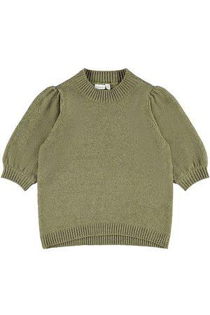 Name It T-shirt - Stickad - NkfBanesa - Deep Lichen Green