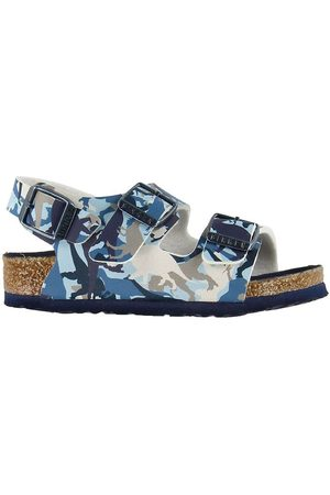 Birkenstock Sandaler - Milano Kids - Dinosaurie Camo Blue
