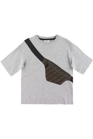 Fendi T-shirt - Gråmelerad m. Magväska