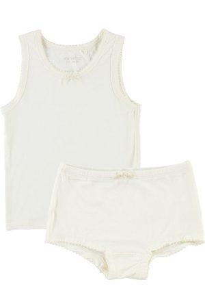Minymo Underkläder - Bambu - Creme m. Spetsar