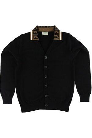 Fendi Pojke Stickade tröjor - Cardigan - Stickad - m. Krage