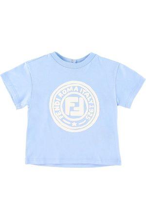 Fendi T-shirt - Ljusblå m. Logo