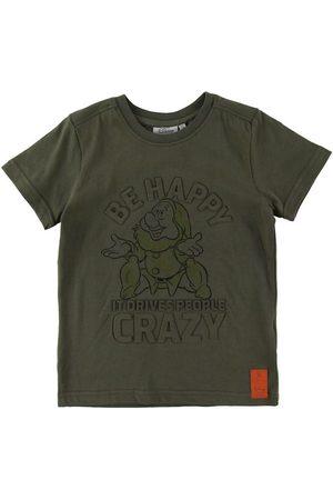 Wheat Disney T-shirt - Happy - Army Leaf