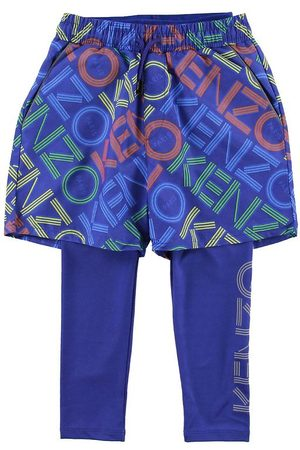 Kenzo Leggings/Shorts - Exclusive Edition - Vivid Blue m. Logo