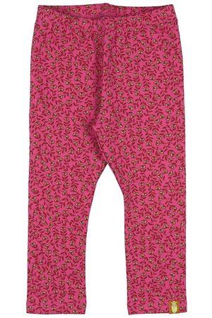 Danefæ Flicka Leggings - Leggings - Andrea - Pink m. Blommor