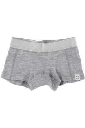 Mikk-Line Flicka Underkläder - Hipstertrosor - Ull - Pearl Grey Melange
