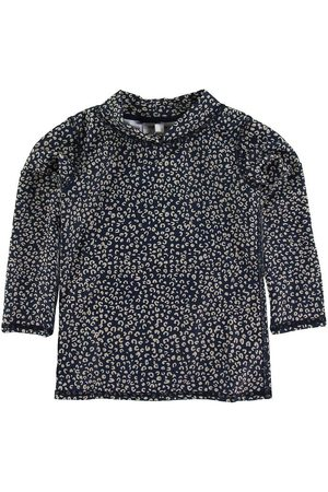 Soft Gallery Badtröja - UV50+ - Dress Blue m. Leopard