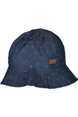 Melton Buckethatt - UV50 - Denim m. Blommor