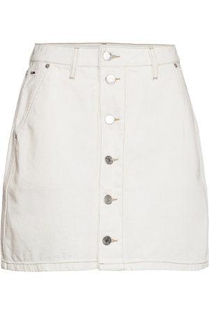 Tommy Hilfiger A-Line Short Denim Skirt Sspwr Kort Kjol