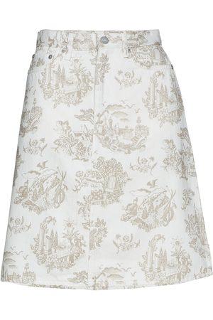 WoodWood Ynes Skirt Kort Kjol Creme