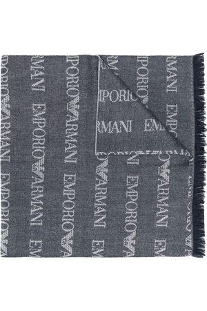 Emporio Armani Lång stickad halsduk med logotyp