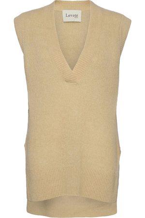 Levete Room Lr-Cille Vests Knitted Vests Beige