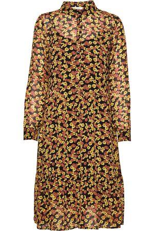 Modstrom Annabelle Print Dress Knälång Klänning Gul