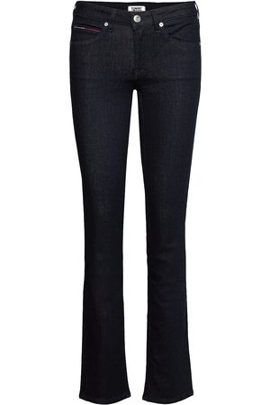 Tommy Hilfiger Mid Rise Straight Sandy Nrst Raka Jeans Blå