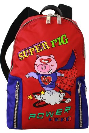 Dolce & Gabbana Super Pig Print School Bag