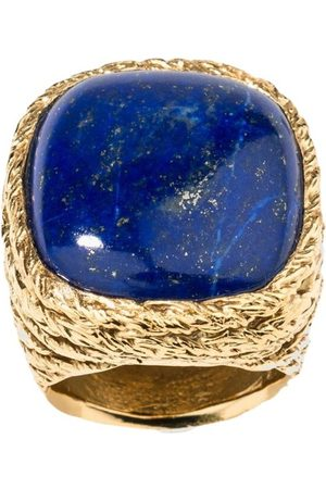 Aurélie Bidermann Miki Lapis Lazuli gold plated ring