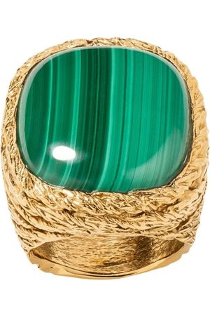 Aurélie Bidermann Kvinna Ringar - Miki Malachite gold plated ring