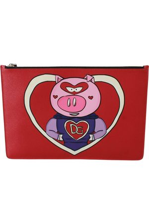 Dolce & Gabbana Man Plånböcker - Red Year of the Pig Leather Documents Pouch