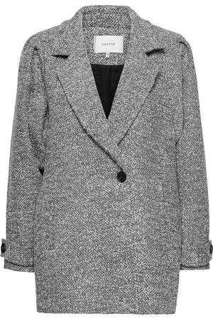 Gestuz Kvinna Vinterkappor - Lucilagz Coat Ms21 Yllerock Rock Grå