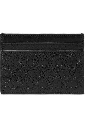 Saint Laurent Man Plånböcker - Logo-Debossed Leather Cardholder