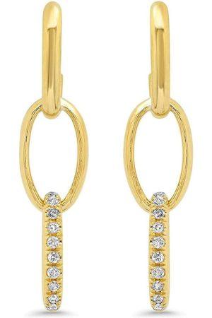 Jennifer Meyer Kvinna Örhängen - Edith diamantörhängen i 18K gult