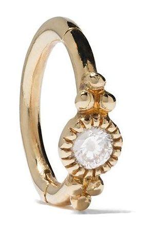 DE JAEGHER Mini Sunny Bubble diamantörhänge i 18K gult