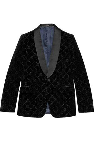 Gucci Man Kavajer - Broderad blazer med sammetseffekt