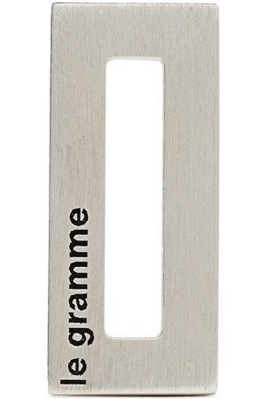 Le Gramme Man Halsband - Rektangulärt hänge med graverad logotyp