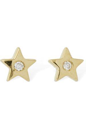 AG 18kt Gold & Diamond Star Earrings