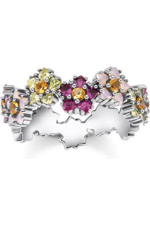 Thomas Sabo Ring Blommor stenar i färg silver