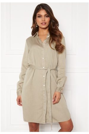 Vila Bista Denim Belt Dress Simply Taupe 34