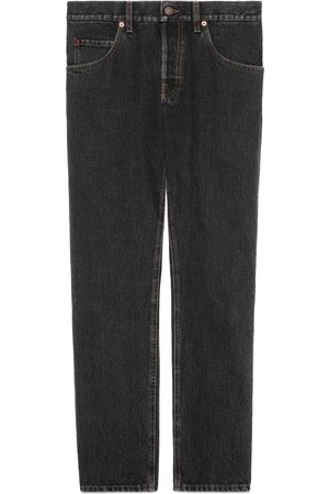 Gucci Man Jeans - Tapered eco stonewashed denim jeans