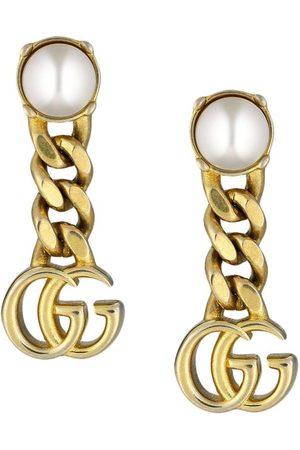 Gucci Kvinna Örhängen - Pärlörhängen med logotyp