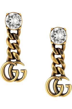 Gucci Kvinna Örhängen - Logotypörhänge med strass