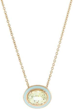 SELIM MOUZANNAR Kvinna Halsband - 18kt rose gold, yellow sapphire and light blue enamel necklace