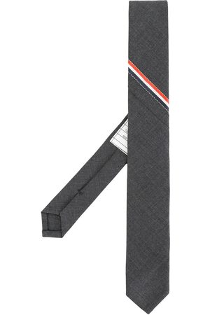 Thom Browne Man Slipsar - Classic Necktie With Seamed In Red, White And Blue Selvedge (26cm) In Super 120's Twill
