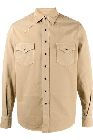 Saint Laurent Stonewashed western denim shirt