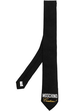 Moschino Man Slipsar - Couture! logo-print silk tie