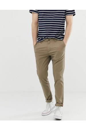 Jack & Jones Intelligence – Sandfärgade chinos med smal passform