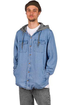 Empyre Crush Hooded Shirt blue denim