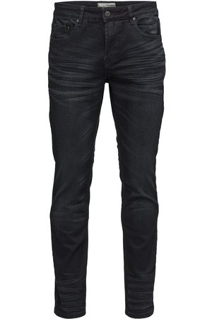 Bruun & Stengade Neal Slimmade Jeans Svart