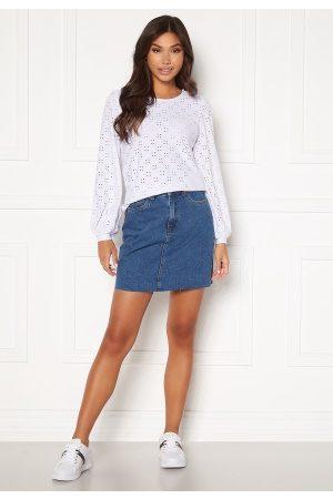 Vero Moda Kvinna Minikjolar - Mikky Raw Denim Skirt Medium Blue Denim S