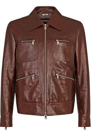 Dolce & Gabbana Man Skinnjackor - Skinnjacka med flera fickor