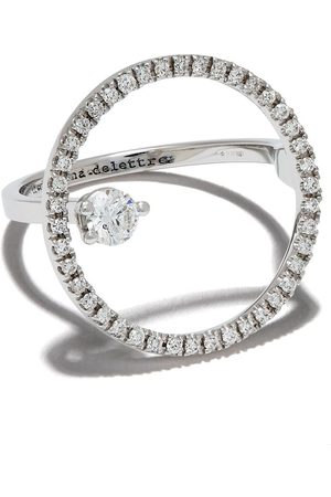 DELFINA DELETTREZ Bubble diamantring i 18K vitguld